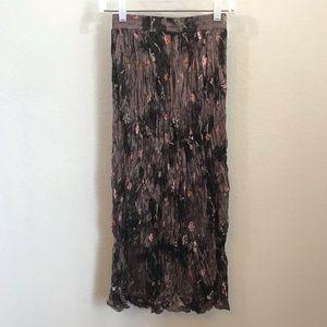 Clio Skirts - Vintage Clio Broom Stick Skirt Sz S Brown Floral